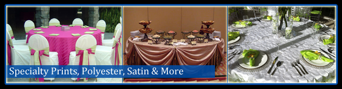 Specialty Linens, Polyester, Satin, & Other Tablecloths