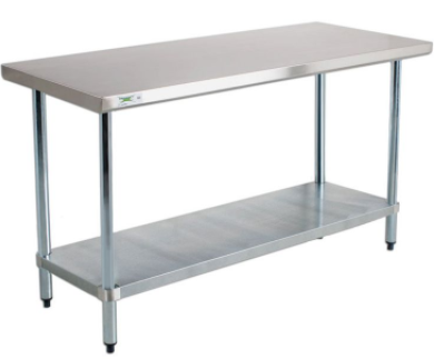 2' x 6' stainless steel table