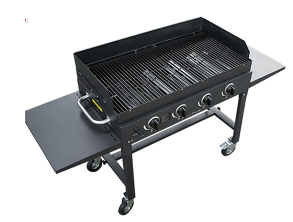4' Flat Top - Griddle Top Gas Grill