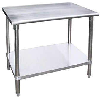 4' x 6' stainless steel table