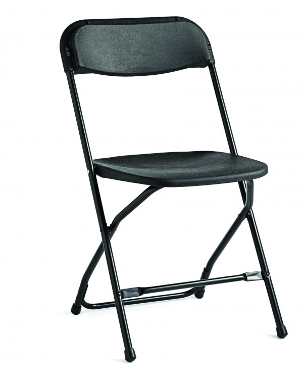 Black Plastic Folding Chairs - C33 (Qty:1000+)