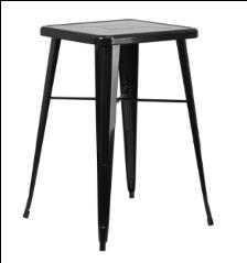 "24"" x 24"" Bar High Table Black"
