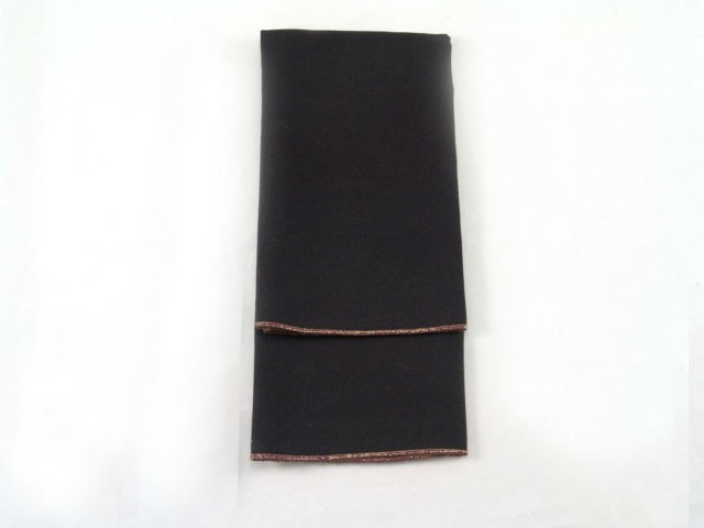 Black Twill with Copper Merrowed Edge - LPL43