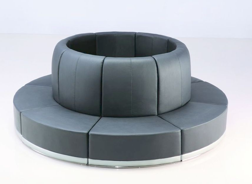 Black Leather Banquette - SF78 (Qty: 1+)