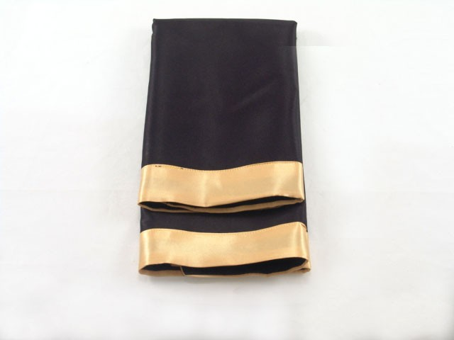 Black Satin with Gold Satin Edge Napkin