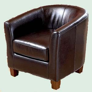 Traditional Brown Leather Chair
