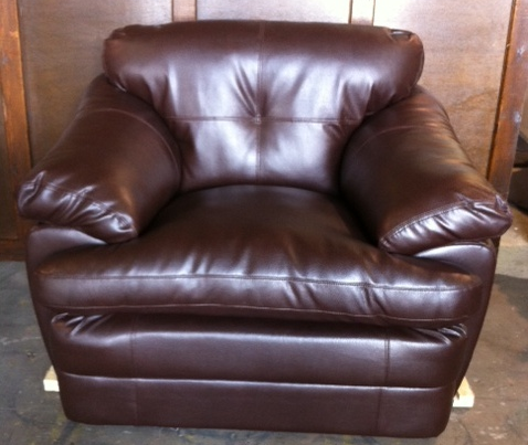 Brown Leather Chair- SF74 (Qty: 6+)