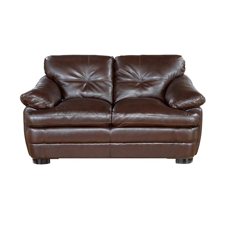 Brown Leather Loveseat - SF72 (Qty: 2+)