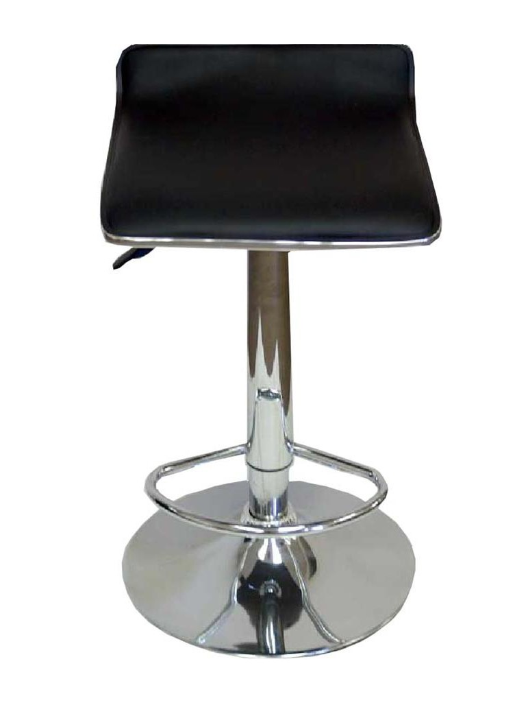 Black Leather Contemporary Bar Stool  sc 1 st  Event Source Solutions & Black Leather Contemporary Bar Stool | Furniture Rental Orlando islam-shia.org