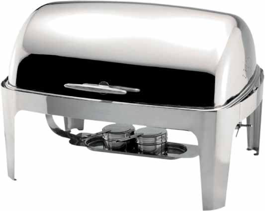 Rectangular Roll Top Chafer
