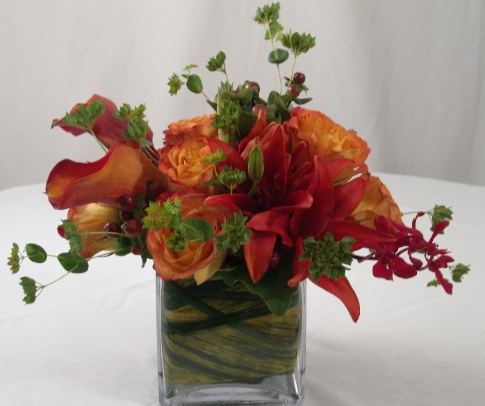 Circus Roses and Mango Calla Lillies - PF78