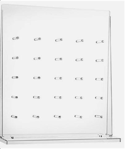 Clear Acrylic Doughnut Wall on Acrylic Stand - CE84