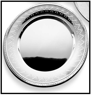 Etched Silver Charger Plate