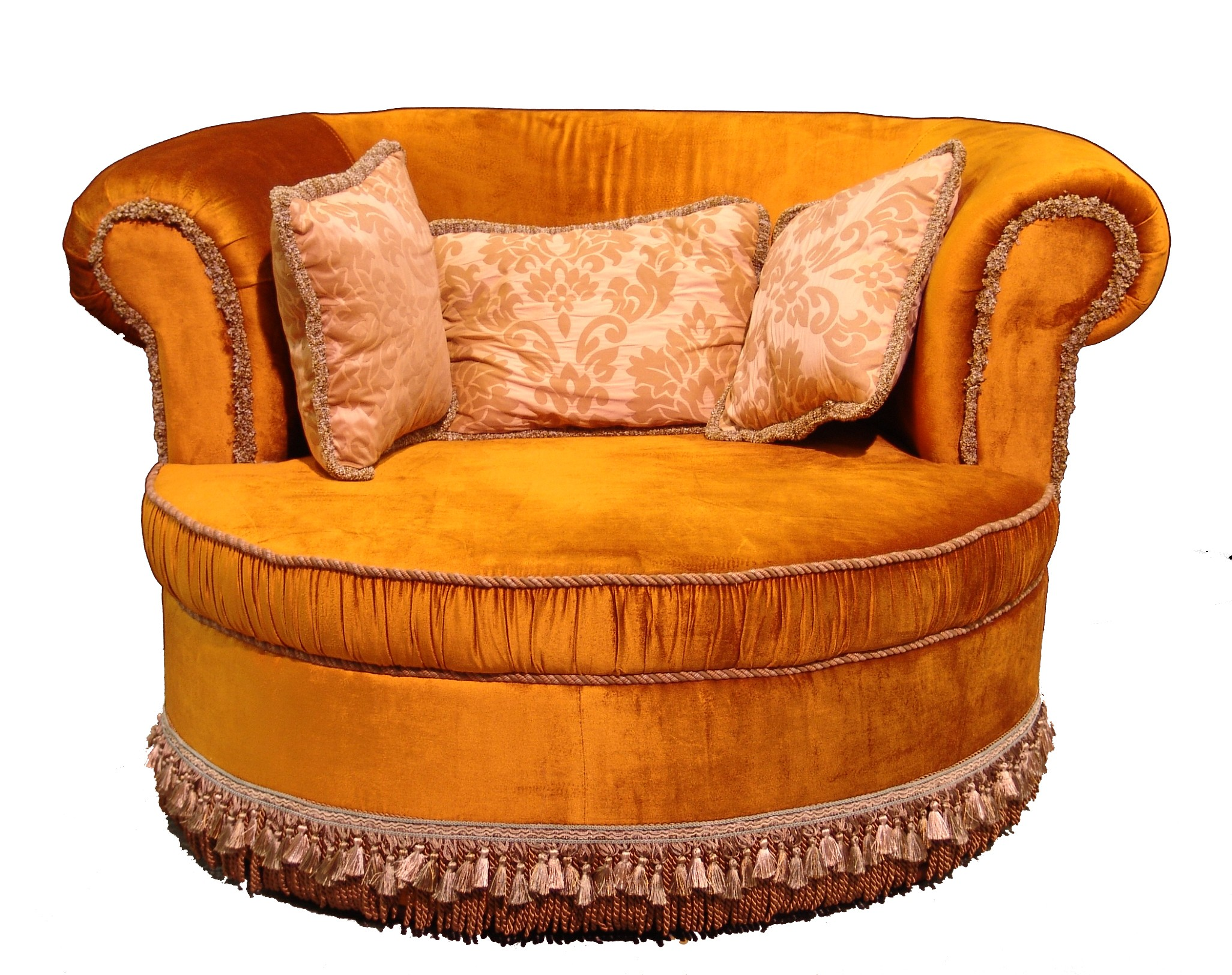 Gold Settee with Fringe