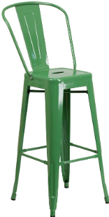 Metallica Bar Stool with Back - TM05