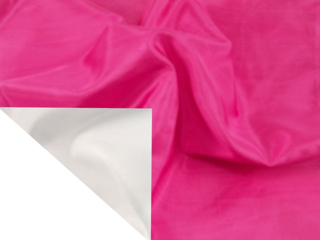 Hot Pink Silk with White Cotton Back Napkin