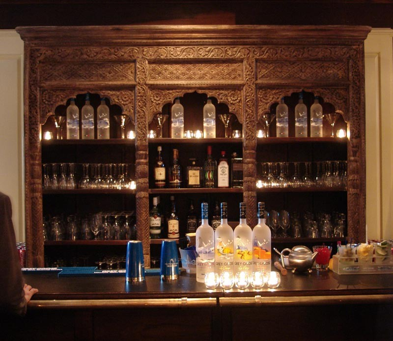 Hand Carved Back Bar