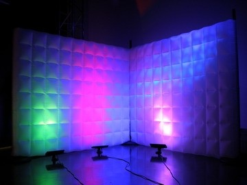 Inflatable Pillow Walls with Uplights