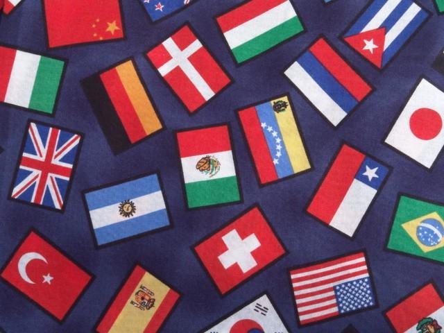 International Flag Print Tablecloth