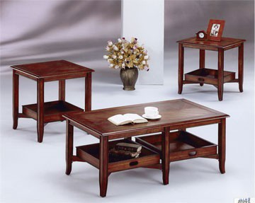 Mahogany Coffee and End Tables - SF82