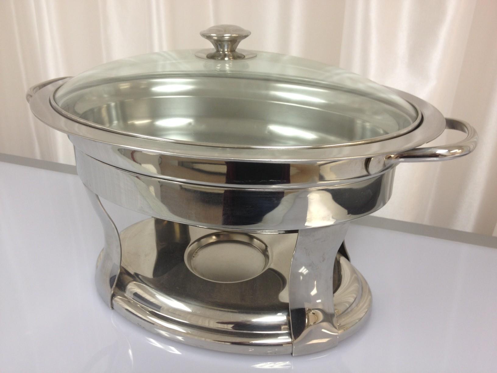 Oval Chafer Dish 6 Qt - CE100 (Qty: 4+)