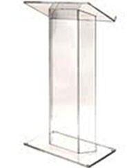 Small Clear Acrylic Podium