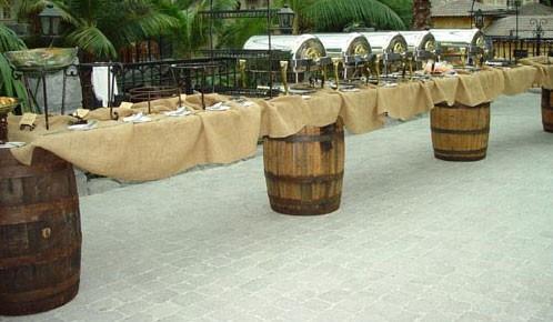 Rustic Barrel and Plank Buffet - PR84