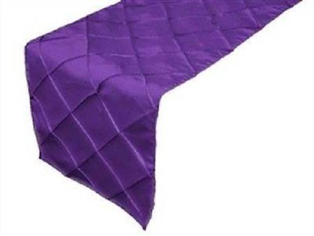 Purple Pintuck Runners