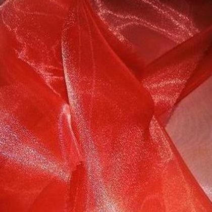 Red Sheer Organza - LOR16
