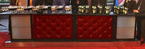 Red Leather Tufted Bar - SF33