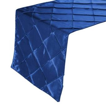 Royal Blue Pintuck Runner