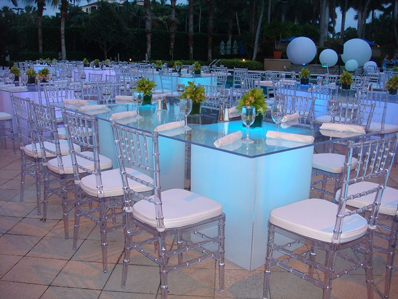 Glow Tables 4' x 8' runway glow tables   event lighting orlando