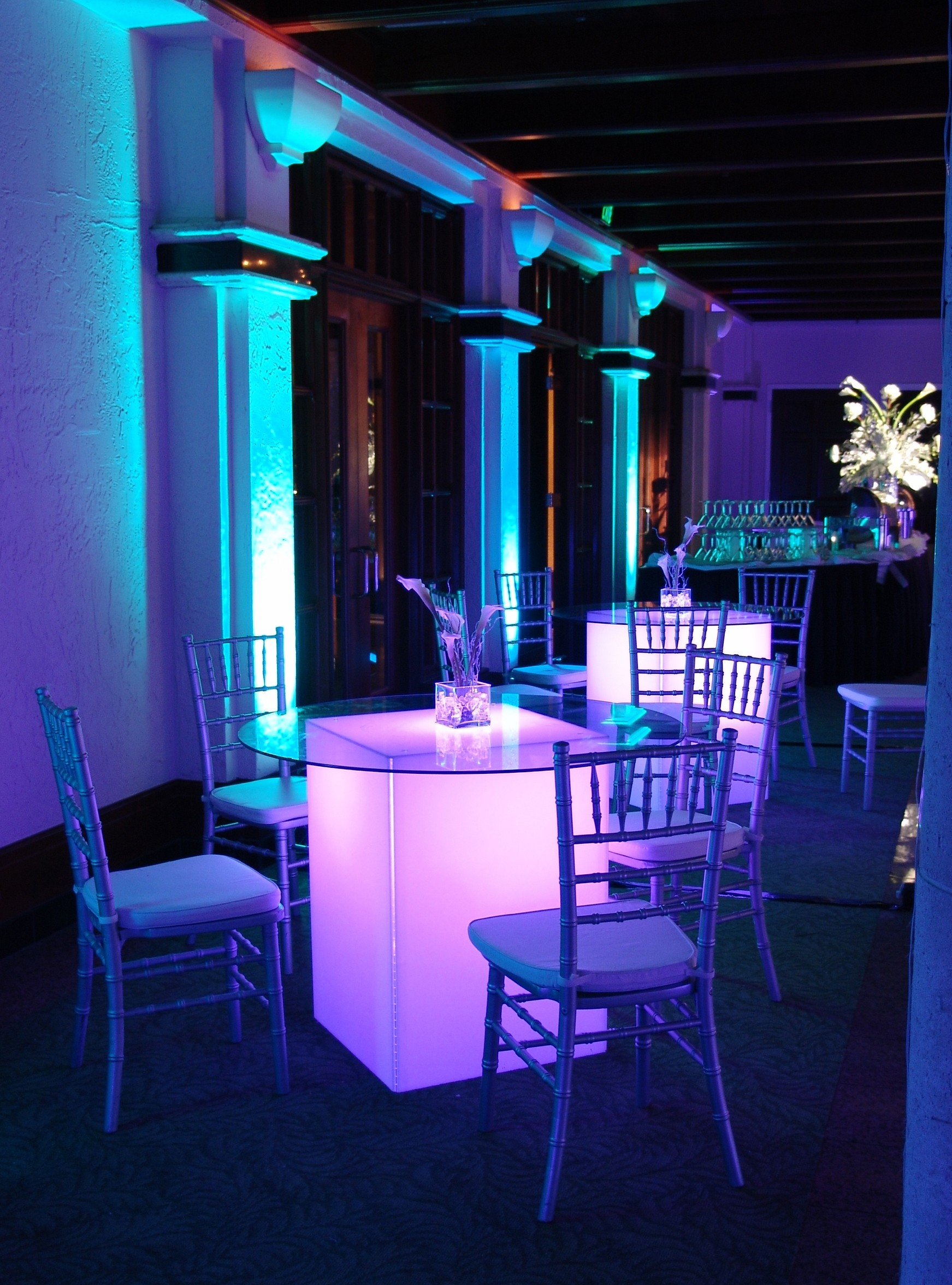 Seated Glow Cocktail Table Table Rentals Orlando