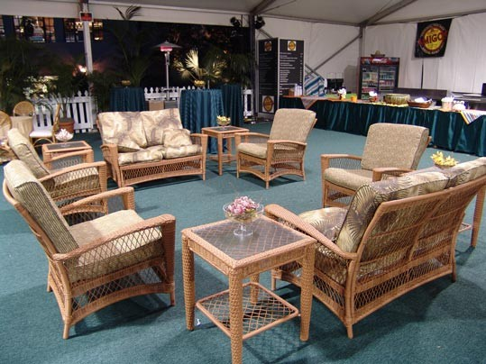 Wicker Furniture with Tropical Cushions - SF59