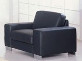 Black Modern Leather Chair - SF66  - (Qty: 4+)