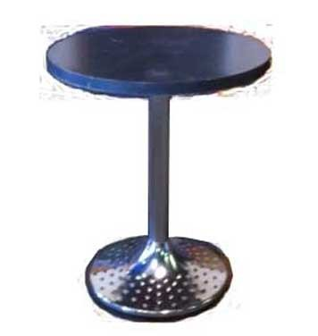 Stainless Steel & Gray Seated Cocktail Table - T17