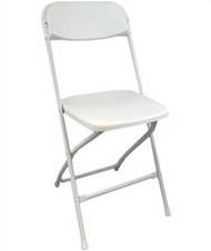White Plastic Folding Chairs (Qty: 44)
