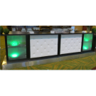 14' Leather Tufted Bar with Glowing End Caps