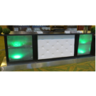 9' Leather Tufted Bar with Glowing End Caps
