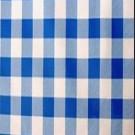 "Royal Blue and White Picnic Check - 90"" Square - LPR100"