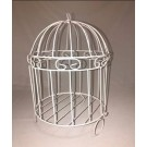 White Metal Bird Cage - PF110