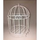 White Metal Bird Cage - PF110