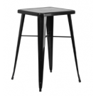 "24"" x 24"" Bar High Table Black"