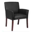 Black Leather  Executive  Arm Chair