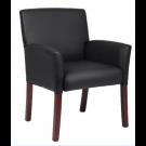 Black Leather  Executive  Arm Chair