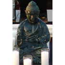 dark green sitting Buddha