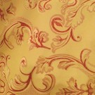 Gold with Burgundy Scroll Damask - LDM39