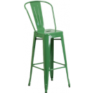 Metallic Bar Stool with Back - TM05