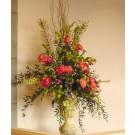 Green and Orange Floral on Balustrade- PF102