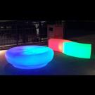 LED Round Ottoman